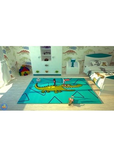 Poypoy Timsah Çocuk Halısı 133X190cm-Poypoy